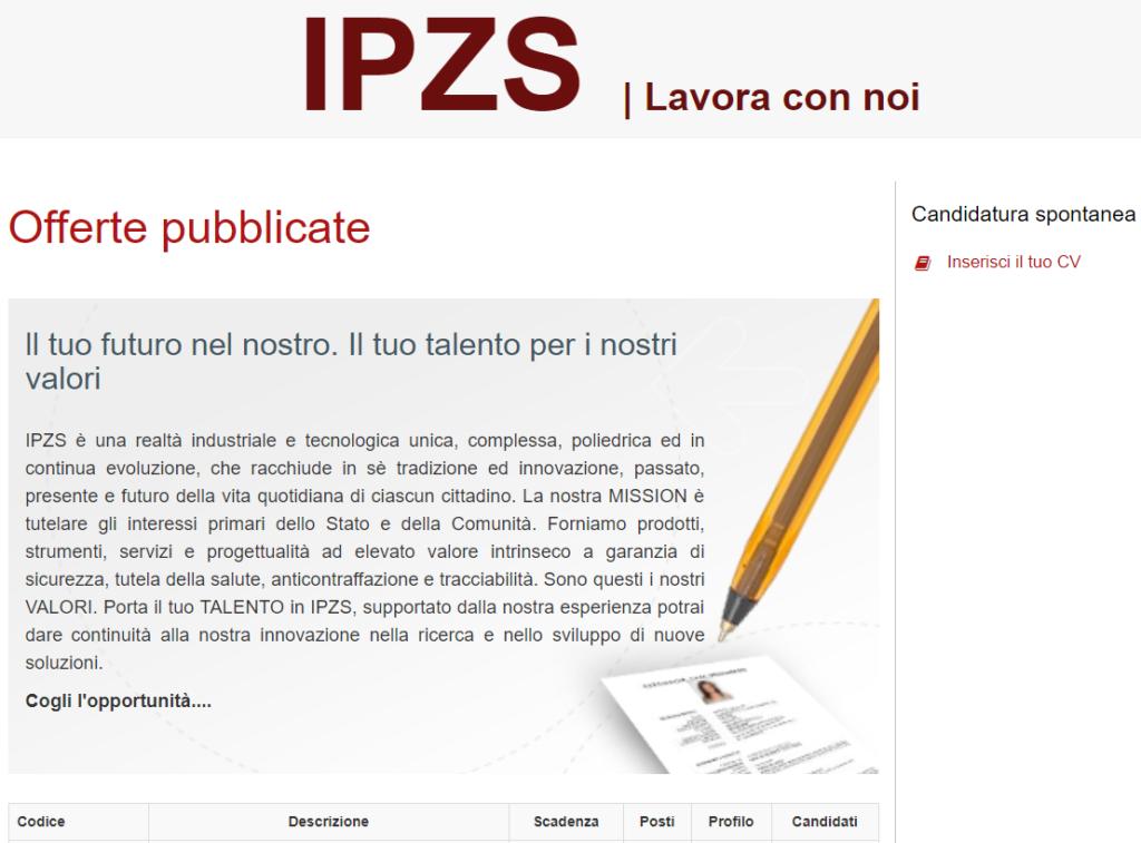 IPZS lavora con noi