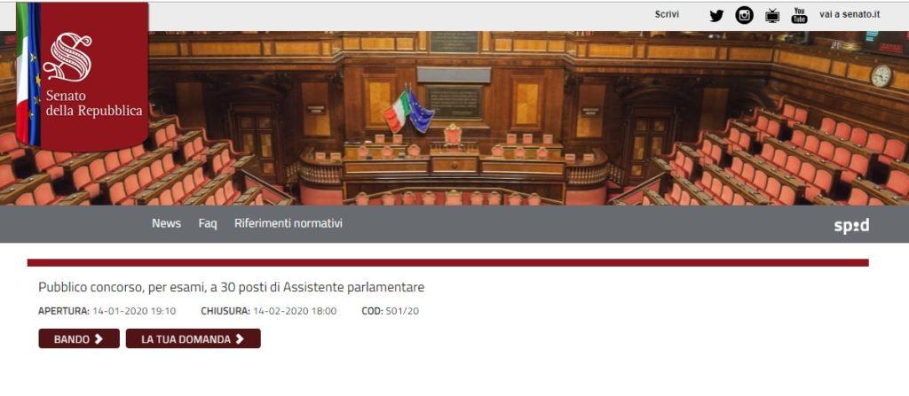 30 assistenti parlamentari